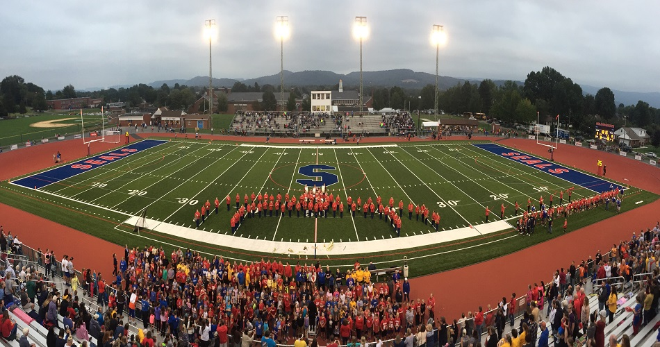 IS 4th & 5th Graders Singing at the Selinsgrove – Berwick Football Game