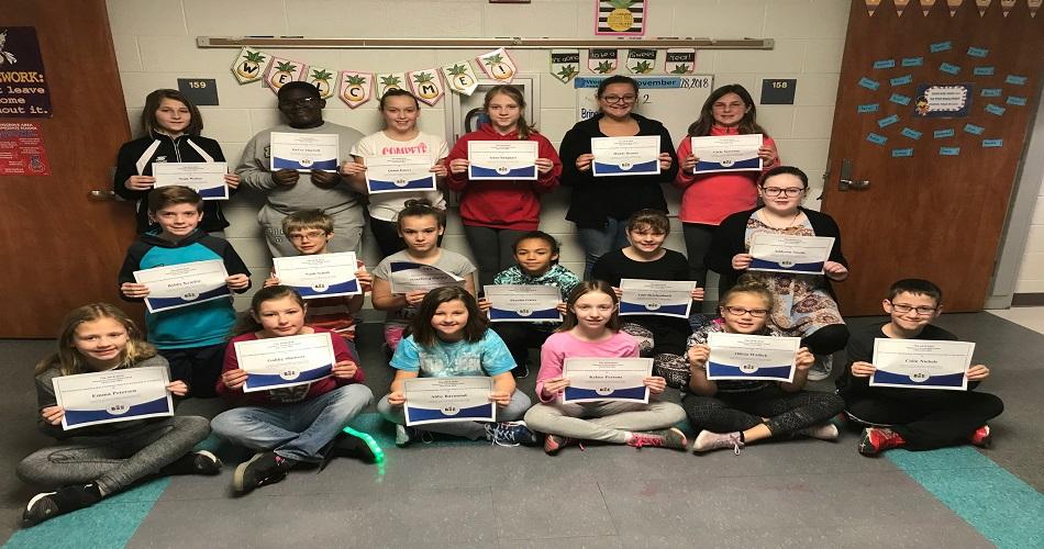 SAIS 5th Grade 2018 Spelling Bee Champions