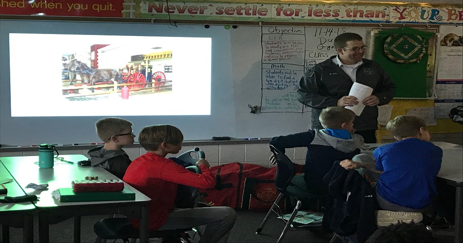 Fire Safety Presentation by Mr. Good to Mr. Ettinger's class