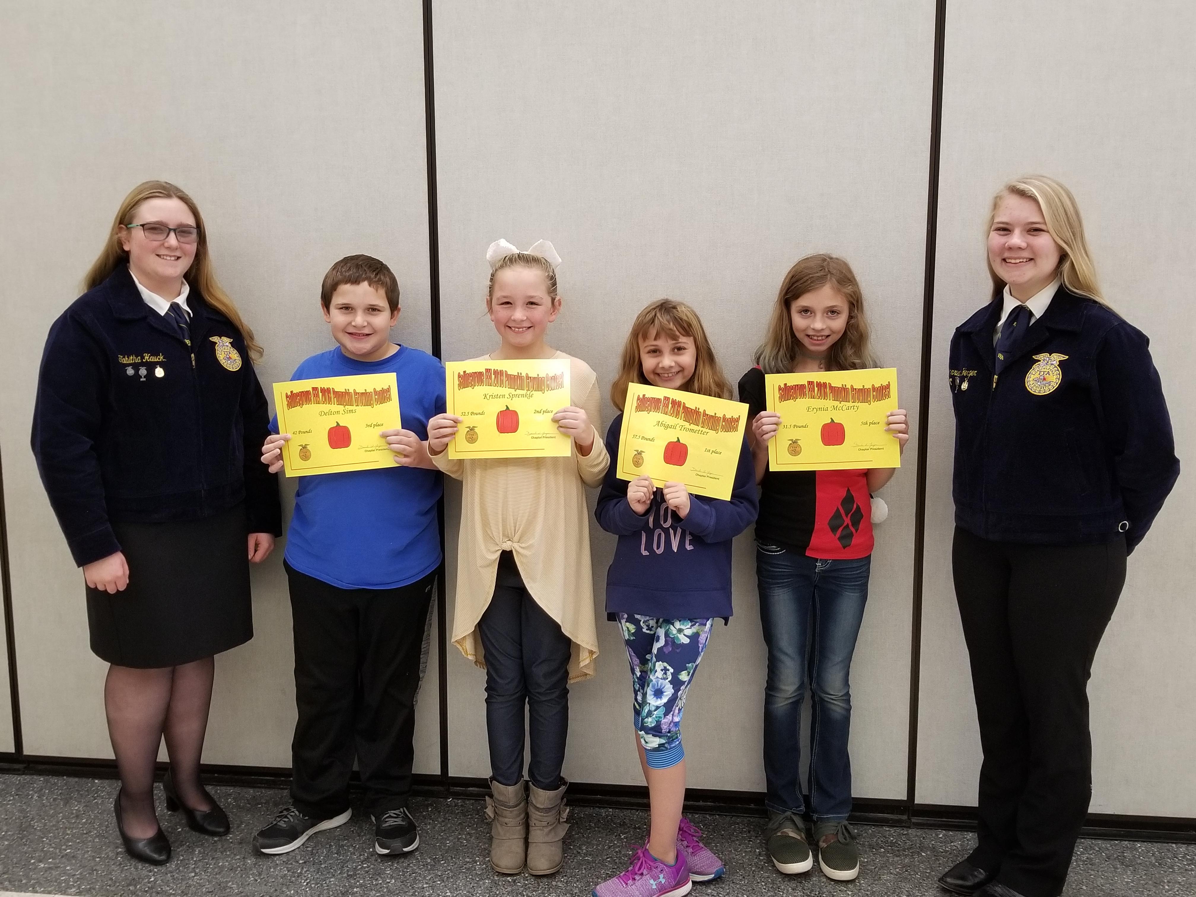 SAIS 2018 Grade 4 Pumpkin Contest Winners