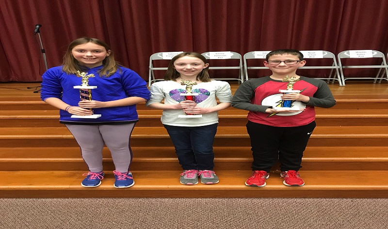 SAIS 5th Grade Spelling Bee Winners: 1st Place – Quinn Emery, 2nd Place – Kelsey Persons, 3rd Place – Colin Nichols