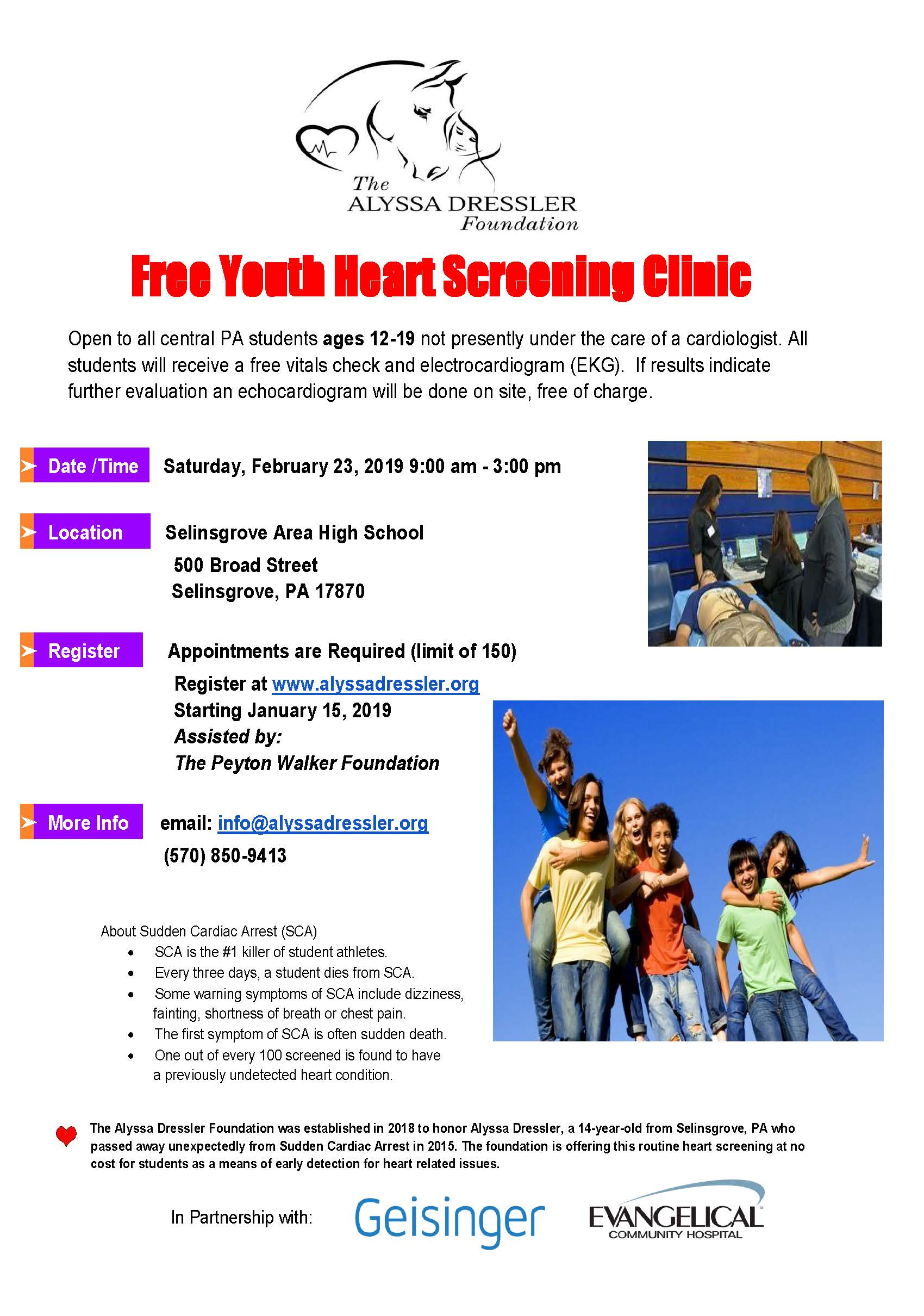 Free Youth Heart Screening Clinic