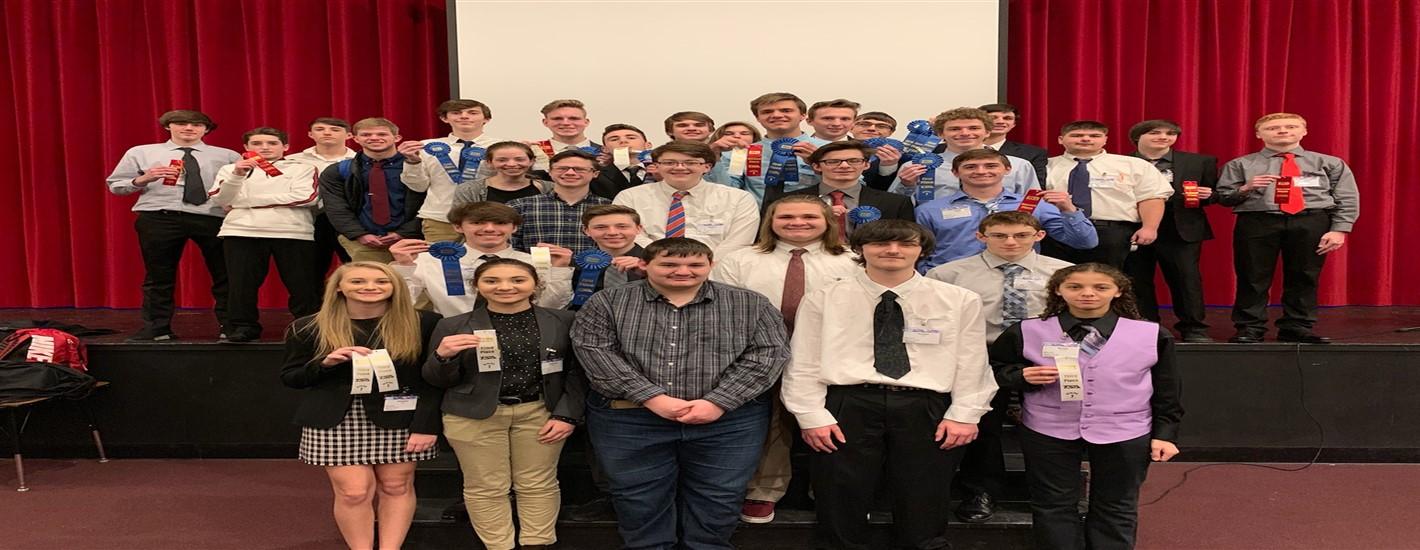 The high school TSA Club after a successful Regional Competition