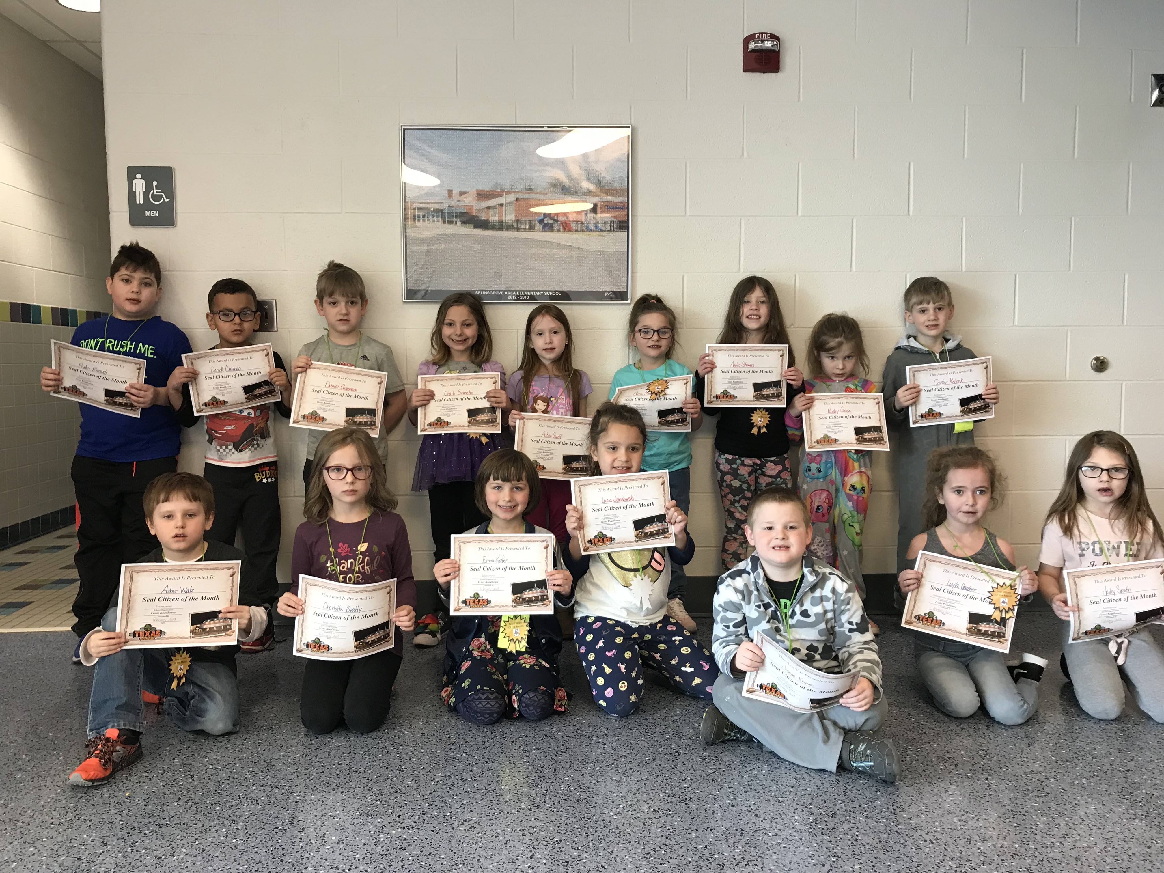 1st Grade February Seal Citizen of the Month