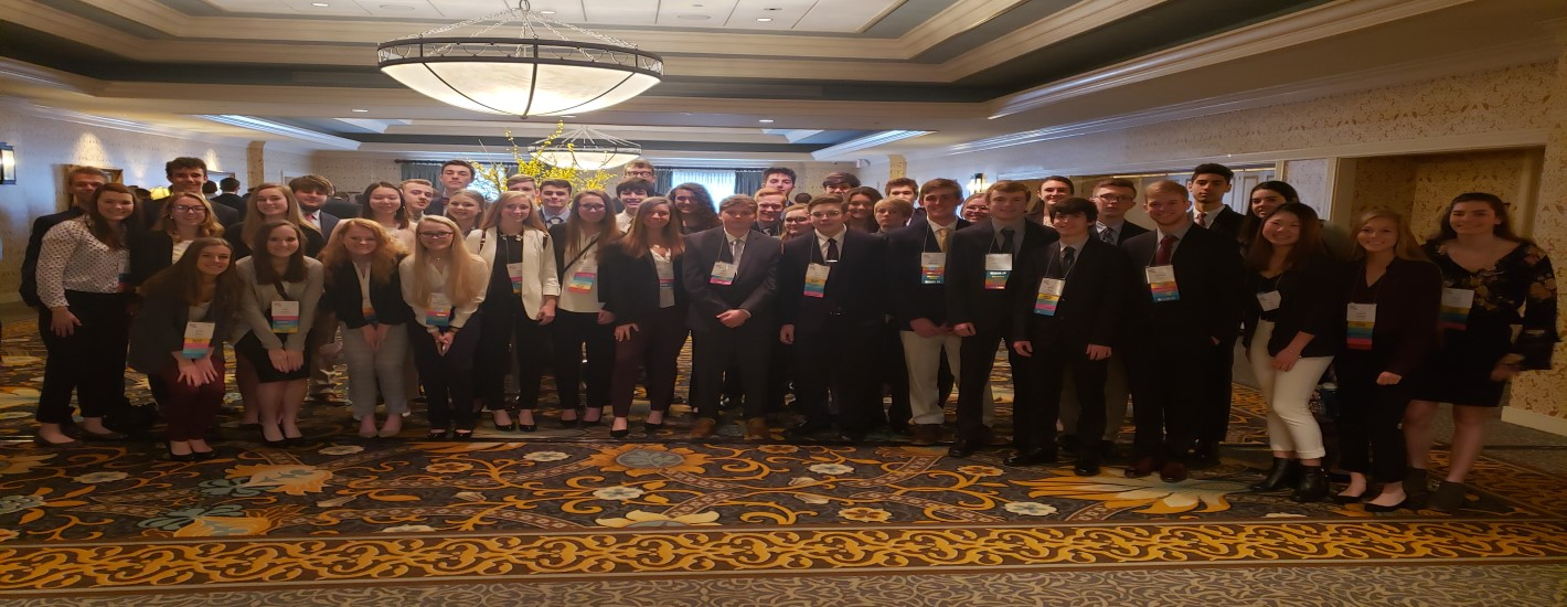 46 person chapter at the 2019 Future Business Leaders of American State Leadership Conference