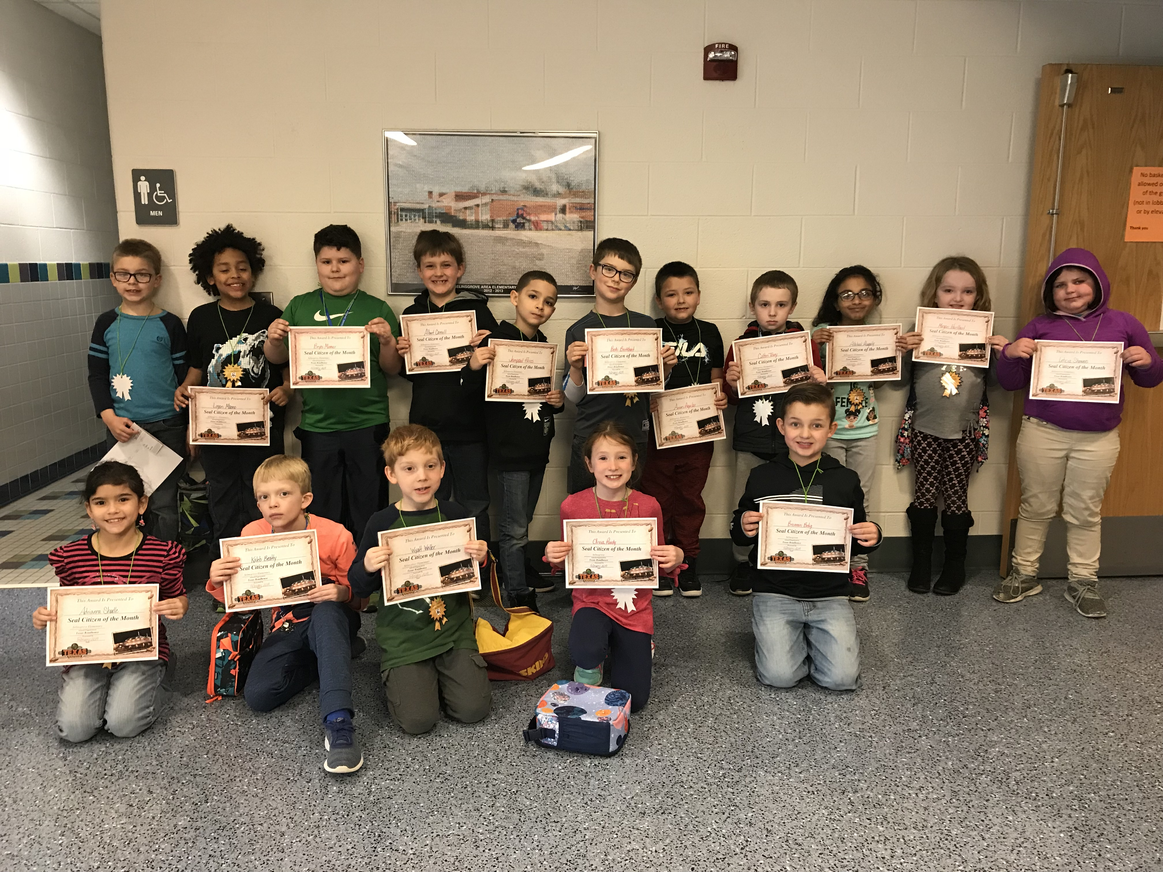 2nd Grade February Seal Citizen of the Month