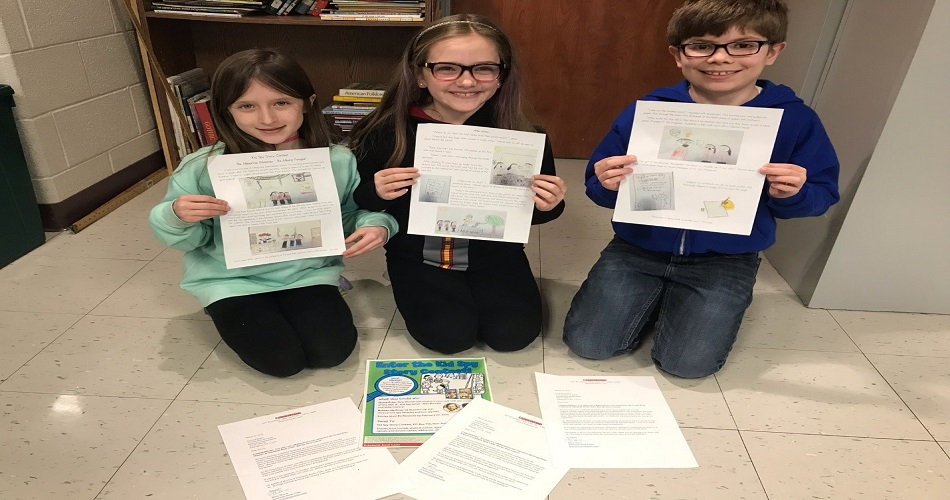 Third Graders Win Grand Prize in Scholastic Books Kid Spy Story Contest.