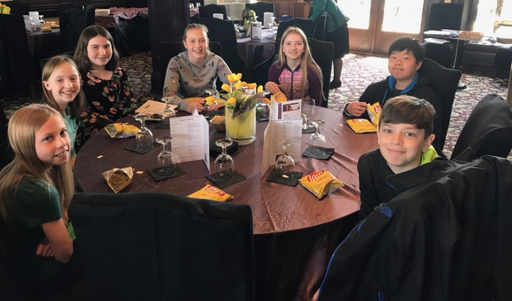 5th & 6th graders attend Stock Market challenge recognition luncheon