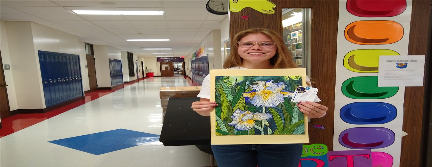 Sydney Bower, 11th Grade, Won 1st Place in the Watercolor Category at the Beaver Fair