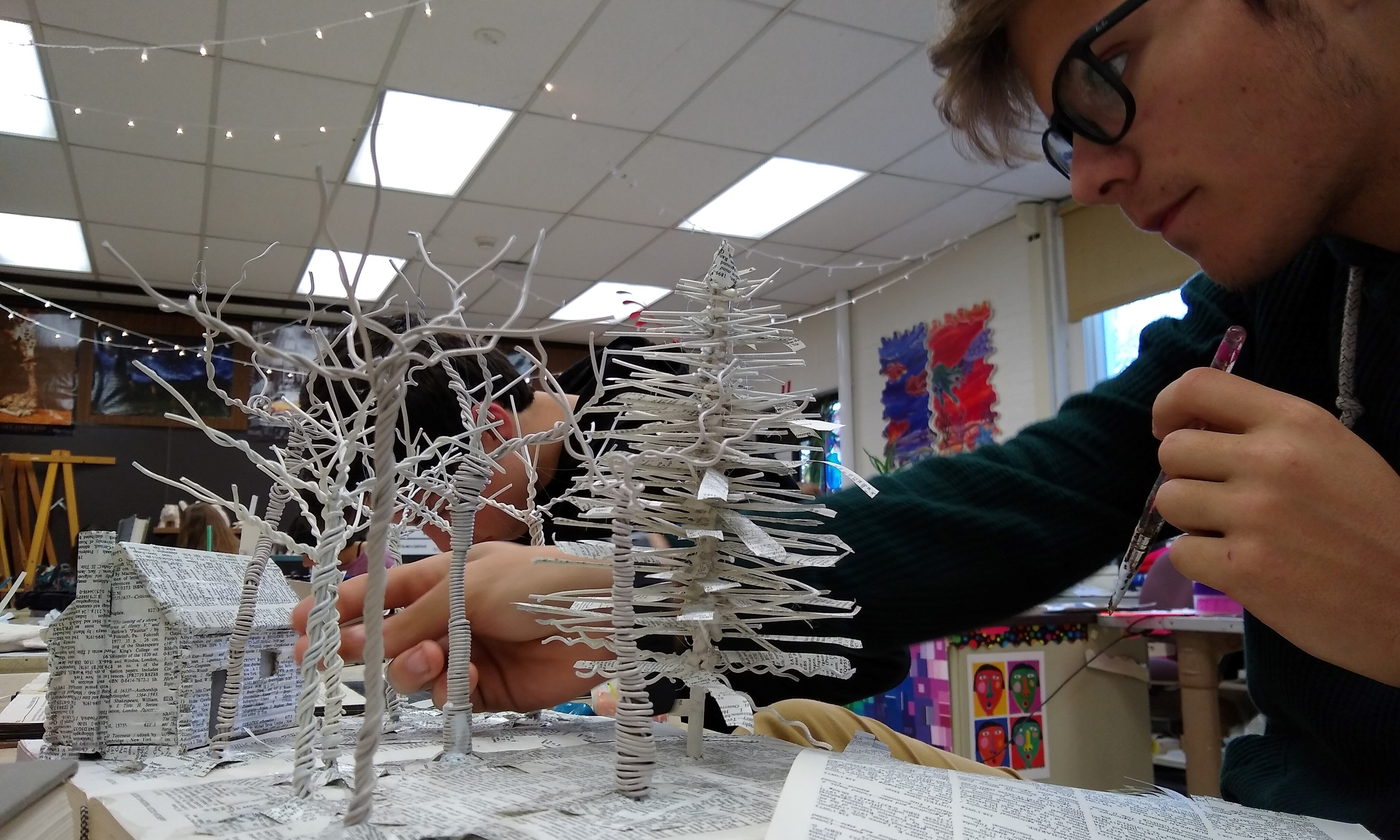 Tim Lindstrom's Book Sculpture