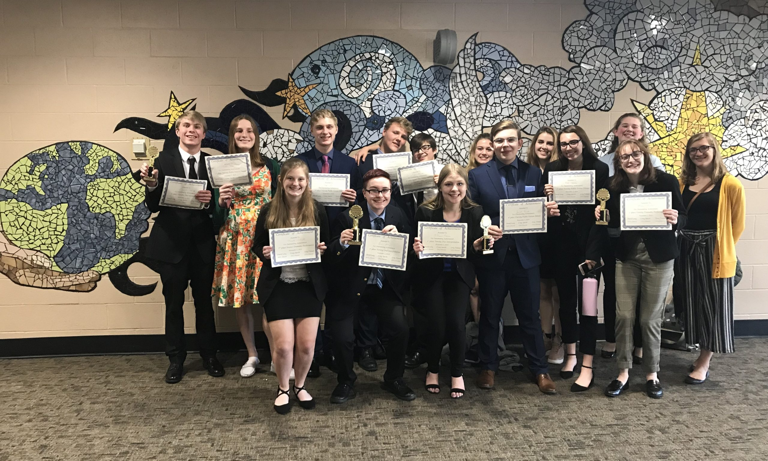 Several Students on the Forensics Team Earned Awards at a Tournament at Berks Catholic in Reading