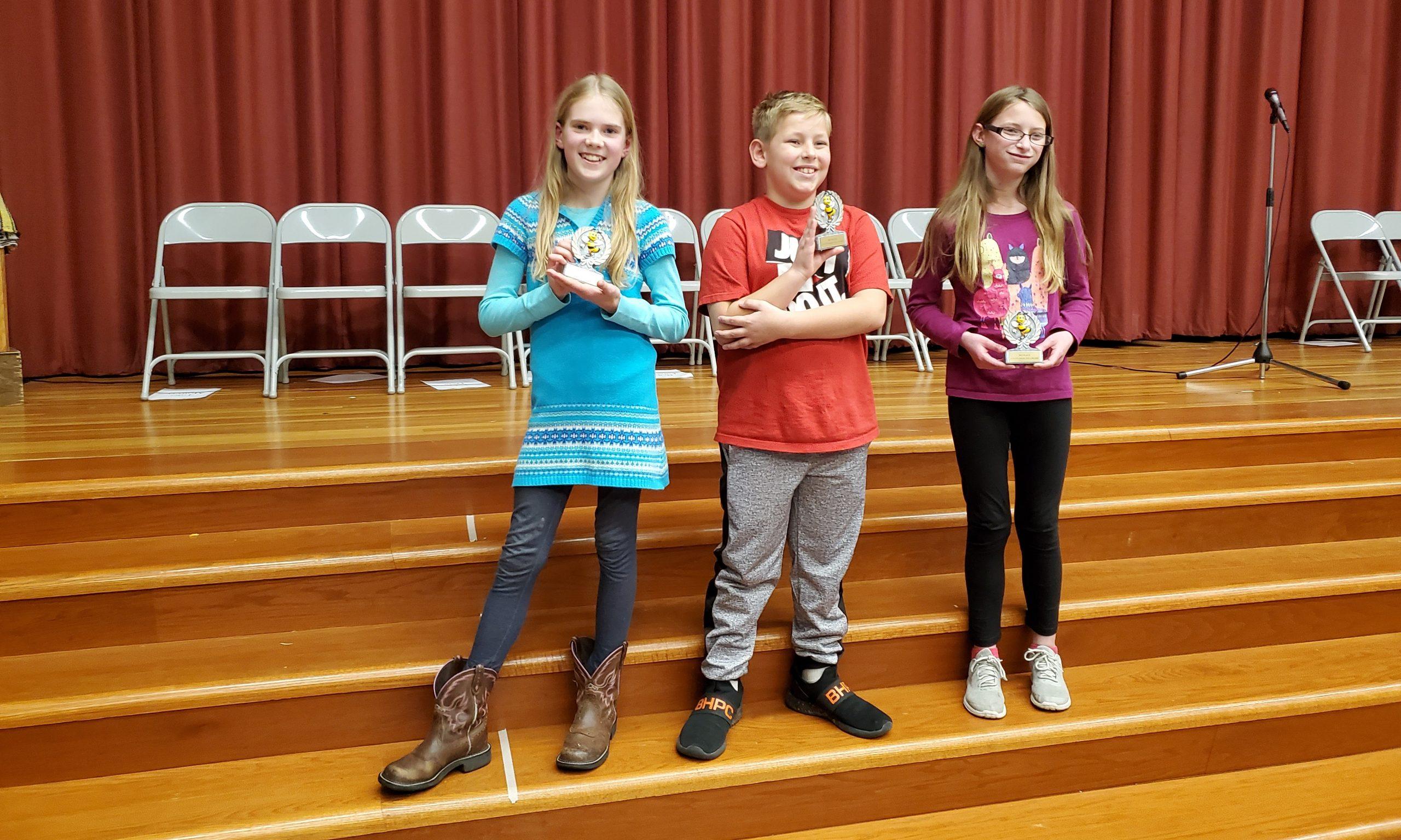 Grade 5 Spelling Bee Winners