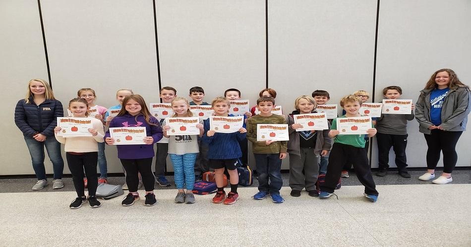 IS Gr 4 Pumpkin Growing Contest Winners