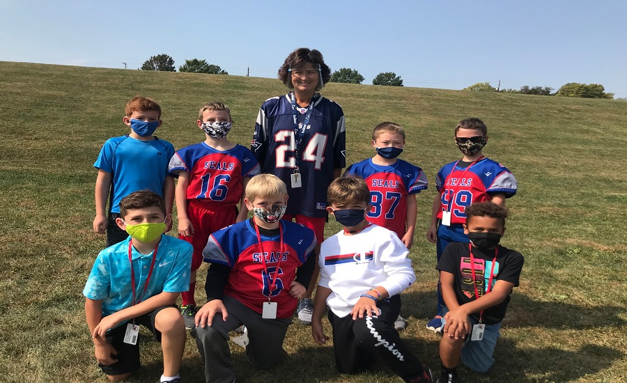 "Future ""Seals"" football players from Mrs. Briggs and Ms. McCartney's classes!"