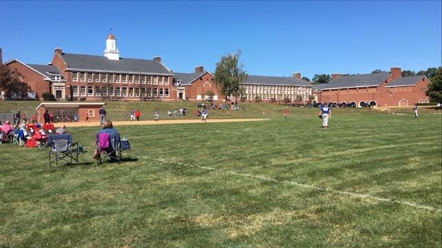 The Lady Seals JV softball team battles Williamsport on a beautiful fall day.