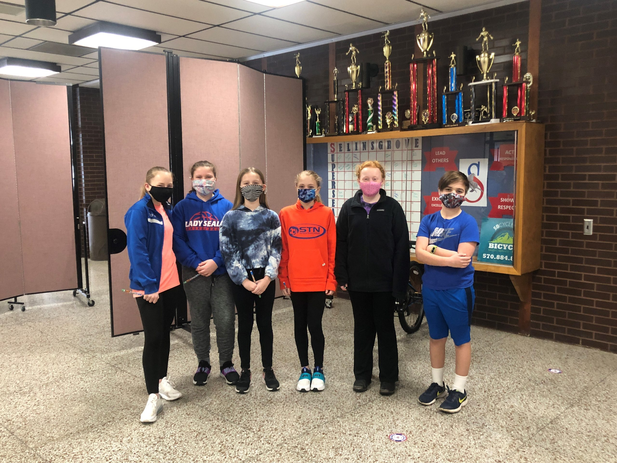 January 6th Grade Students of the Month