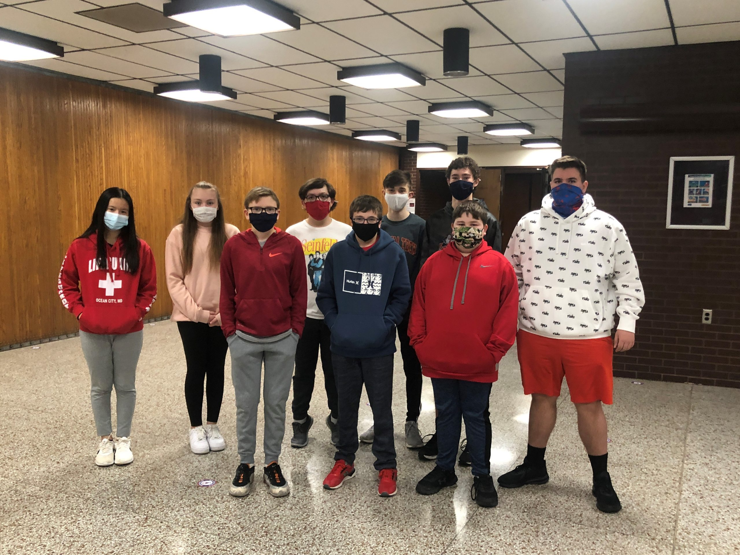 8th Grade January Students of the Month