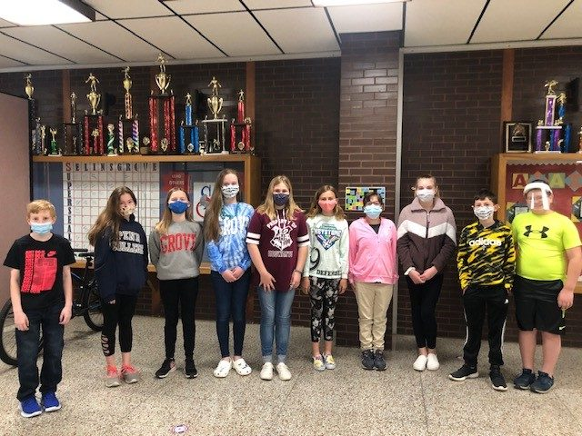 Grade 6 February Students of the Month
