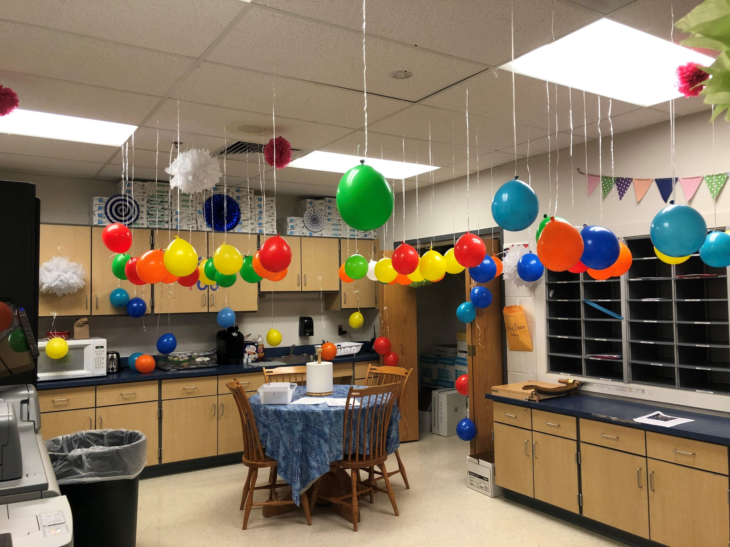 Thank you PTSO for our balloon popping activity to receive our gift cards